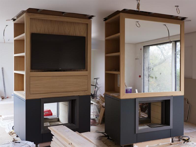 poële double foyer